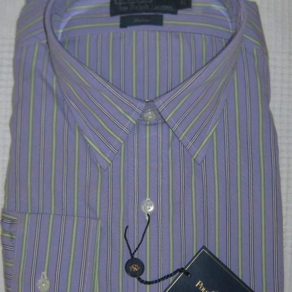 Polo by Ralph Lauren Other - Ralph Lauren Mens Cotton Andrew Striped Purple NWT